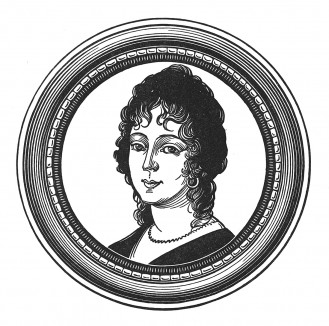"""Мария-Летиция Бонапарт (мадам Мер, в девичестве Рамолино) (1750-1836) - мать императора Наполеона I. Илл. к пьесе С.Гитри """"Наполеон"""", Париж, 1955"""