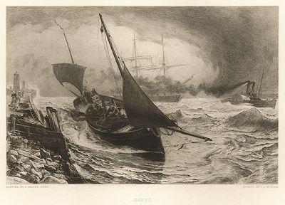 """Спасённые. Лист из серии """"Галерея офортов"""". Лондон, 1880-е"""