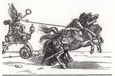 Малая Триумфальная колесница, или Бургундское бракосочетание (гравюра Альбрехта Дюрера (правая часть))