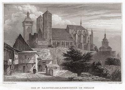 Вид на костел святого Варфоломея в чешском городе Колин.