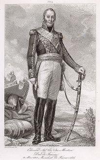 Эдуар Адольф Мортье (1768-1835), маршал Франции с 1804 года. Galerie des Marechaux de France par Ch. Gavard, Париж, 1839 год.