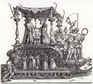 Малая Триумфальная колесница, или Бургундское бракосочетание (гравюра Альбрехта Дюрера (левая часть))