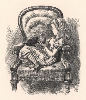 Что ты можешь сказать в свое оправдание? А теперь слушай и не прерывай меня! (иллюстрация Джона Тенниела к книге Льюиса Кэрролла «Алиса в Зазеркалье», выпущенной в Лондоне в 1870 году)