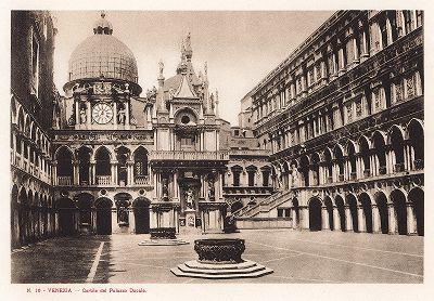 Внутренний двор Дворца дожей. Ricordo Di Venezia, 1913 год.