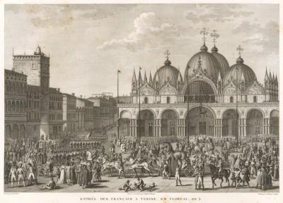 Разграбление французами Венеции 16 мая 1797 г. Tableaux historiques des campagnes d'Italie depuis l'аn IV jusqu'á la bataille de Marengo. Париж, 1807