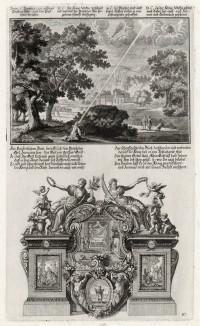 1. Слово Бога к Иеремии 2. Пророчество Иеремии царю Седекии (из Biblisches Engel- und Kunstwerk -- шедевра германского барокко. Гравировал неподражаемый Иоганн Ульрих Краусс в Аугсбурге в 1700 году)