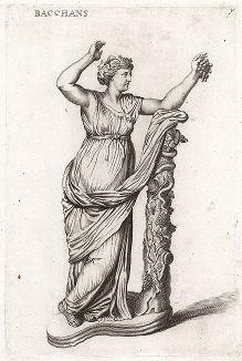 Вакханка Джустиниани. Лист из Sculpturae veteris admiranda ... Иоахима фон Зандрарта, Нюрнберг, 1680 год.