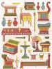 Антиквариат XIII века: предметы для гостиной и столовой, без которых невозможно принимать гостей (из Les arts somptuaires... Париж. 1858 год)