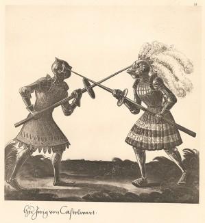 Из Freydal. Des Kaisers Maximilian I. Turniere und Mummereien (Репринт 1882 года. Вена. Лист 51)