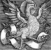 Орел, символ Иоанна Богослова. Иллюстрация Ганса Шауфелейна к Via Felicitatis. Издал Johann Miller, Аугсбург, 1513