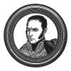 """Арман Огюстен Луи де Коленкур (1773—1827) — французский аристократ, посланник при русском дворе (1801), автор знаменитых мемуаров о кампании 1812 года и герцог Виченцы. Илл. к пьесе С.Гитри """"Наполеон"""", Париж, 1955"""