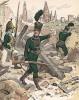 Униформа артиллерии армии Великого герцогства Гессен-Дармштадт в 1812 г. Uniformenkunde Рихарда Кнотеля, л.35. Ратенау (Германия), 1890