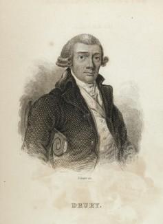 """Сэр Дрю Друри (1725--1763) -- самый известный энтомолог своего времени, обладатель коллекции насекомых в 11000 экземпляров (фронтиспис тома I """"Библиотеки натуралиста"""" Вильяма Жардина, изданного в Эдинбурге в 1842 году)"""
