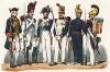 Униформа пехотных частей гвардии города Парижа с 1770 по 1841 гг. Costumes de l'armée française depuis Louis XIV, jusqu'à nos jours, л.14. Париж, 1841
