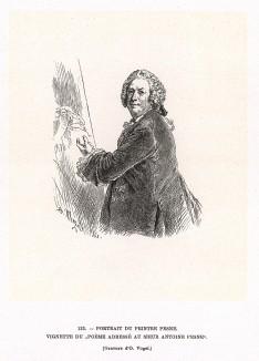 «Поэма, адресованная господину Антуану Пэну», в коей король Пруссии восхищается мастерством художника. Антуан Пэн (1683-1757) - придворный живописец Фридриха II, член Парижской академии и директор Берлинской академии.