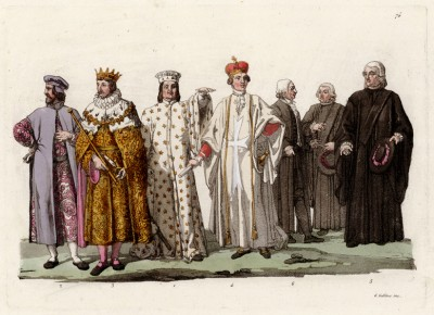 Семейство Медичи (из знаменитой работы Джулио Феррарио Il costume antico e moderno, o, storia... di tutti i popoli antichi e moderni, изданной в Милане в 1822 году (Европа. Том III))