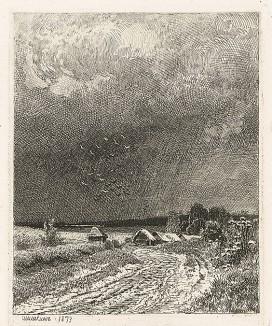"""Лист из альбома """"25 гравюр на меди И.И.Шишкина"""". Санкт-Петербург, 1878"""