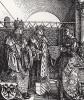Обручение герцога Бургундии Филиппа I Красивого (1478--1506) и Иоанны Кастильской (Безумной) (1479--1555) ( деталь дюреровской Триумфальной арки императора Максимилиана I)