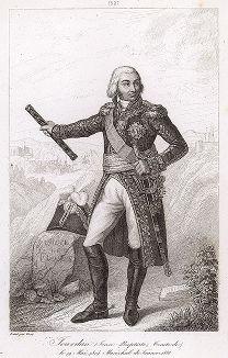 Жан-Батист Журдан (1762-1833), маршал Франции с 1804 года. Galerie des Marechaux de France par Ch. Gavard, Париж, 1839 год.