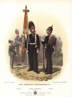 Прусские гренадеры в униформе образца 1870-х гг. Preussens Heer. Берлин, 1876