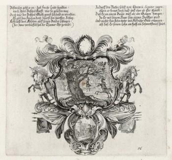 Смерть Авессалома (из Biblisches Engel- und Kunstwerk -- шедевра германского барокко. Гравировал неподражаемый Иоганн Ульрих Краусс в Аугсбурге в 1700 году)