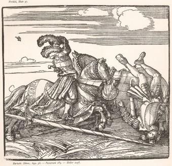 Гравюра Дюрера для Freydal. Des Kaisers Maximilian I. Turniere und Mummereien (Репринт 1882 года. Вена)
