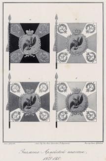 Историческое описание одежды и вооружения российских войск... А. В. Висковатова. Знамёна армейской пехоты в 1803--1815 гг. (лист 2401)