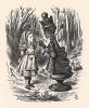 Смотри мне в глаза! Отвечай вежливо! И не верти пальцами! (иллюстрация Джона Тенниела к книге Льюиса Кэрролла «Алиса в Зазеркалье», выпущенной в Лондоне в 1870 году)