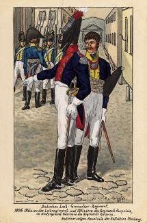 1806 г. Офицеры гвардейских пехотных полков Великого герцогства Баден. Коллекция Роберта фон Арнольди. Германия, 1911-29