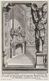 Альков с камином по французской моде. Johann Jacob Schueblers Beylag zur Ersten Ausgab seines vorhabenden Wercks. Нюрнберг, 1730