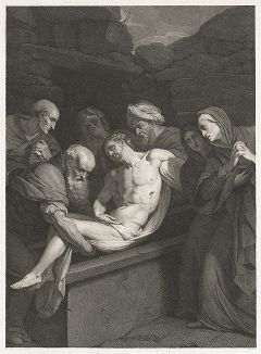 Положение во гроб. Гравюра Джузеппе Лонги по оригиналу Даниеле Креспи, 1803 год.
