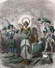 Бессмертник,  Колокольчик и Лавр, и другие растения.. Les Fleurs Animées par J.-J Grandville. Париж, 1847