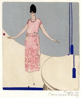 Реклама парижского модного дома Marie-Louise Barclay. Les feuillets d'art. Париж, 1920