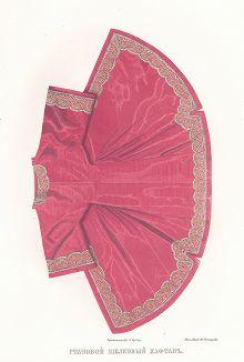 Становой шелковый кафтан (изображение 3). Древности Российского государства..., отд. II, лист № 54, Москва, 1851.