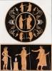 Фрагмент античной вазы с изображением Геракла (из знаменитой работы Джулио Феррарио Il costume antico e moderno, o, storia... di tutti i popoli antichi e moderni, изданной в Милане в 1816 году (Европа. Том I))