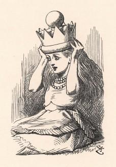 И как оно сюда попало без моего ведома? (иллюстрация Джона Тенниела к книге Льюиса Кэрролла «Алиса в Зазеркалье», выпущенной в Лондоне в 1870 году)