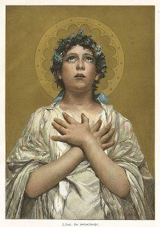 Рождественский ангел. Moderne Kunst..., т. 9, Берлин, 1895 год.