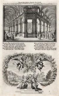 1. Пир Товия 2. Товий приносит жертвы (из Biblisches Engel- und Kunstwerk -- шедевра германского барокко. Гравировал неподражаемый Иоганн Ульрих Краусс в Аугсбурге в 1694 году)