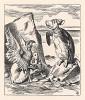 """""""Однажды, -- произнес, наконец, Черепаха Квази с глубоким вздохом, -- я был настоящей Черепахой"""". (иллюстрация Джона Тенниела к книге Льюиса Кэрролла «Алиса в Стране Чудес», выпущенной в Лондоне в 1870 году)"""