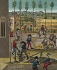 Полевые работы в средневековом Провансе: пахота, высадка саженцев, сенокос и сбор урожая (из Les arts somptuaires... Париж. 1858 год)