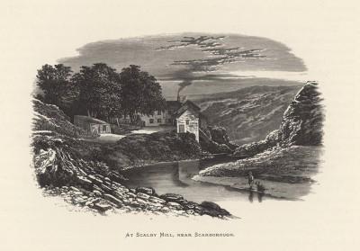 """Рыбаки в местечке Сколби Милл близ Скарборо (иллюстрация к работе """"Пресноводные рыбы Британии"""", изданной в Лондоне в 1879 году)"""