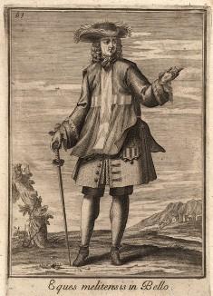 Рыцарь Мальтийского ордена. Catalogo degli ordini equestri, e militari еsposto in imagini, e con breve racconto. Рим, 1741