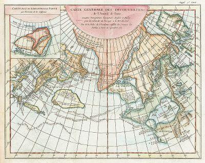 Генеральная карта открытий адмирала де Фонте. Carte Generale des Decouvertes de l'Admiral de Fonte. Париж, 1752