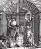 Обручение императора Максимилиана I и Марии Бургундской (1457--1482) (деталь дюреровской Триумфальной арки императора Максимилиана I)