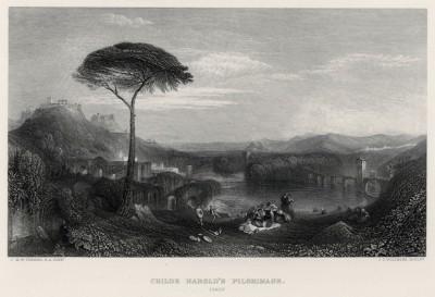 """Паломничество Чайльд-Гарольда. Италия (лист из альбома """"Галерея Тёрнера"""", изданного в Нью-Йорке в 1875 году)"""