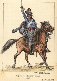 1813 г. Кавалерист полка хорватских гусар Великой армии Наполеона. Коллекция Роберта фон Арнольди. Германия, 1911-29