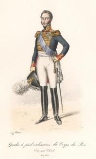 Полковник гвардейской пехоты короля Франции в униформе образца 1817-1830 годов. Histoire de la Maison Militaire du Roi de 1814 à 1830. Экз. №93 из 100, изготовлен для H.Fontaine.Том I, л.27. Париж, 1890