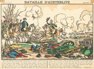Наполеон I встречает весть о победе в сражении при Аустерлице 5 декабря 1805 г. Bataille d'Austerlitz. Imagerie d'Épinal №128 (фр.). Эпинальская картинка. Париж, 1880-е гг.