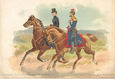 Его императорское величество государь император Николай Александрович в форме лейб-гвардии Уланскаго её величества государыни императрицы Александры Феодоровны полка.