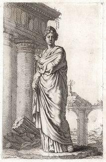 Сабинянка (сабина). Лист из Sculpturae veteris admiranda ... Иоахима фон Зандрарта, Нюрнберг, 1680 год.
